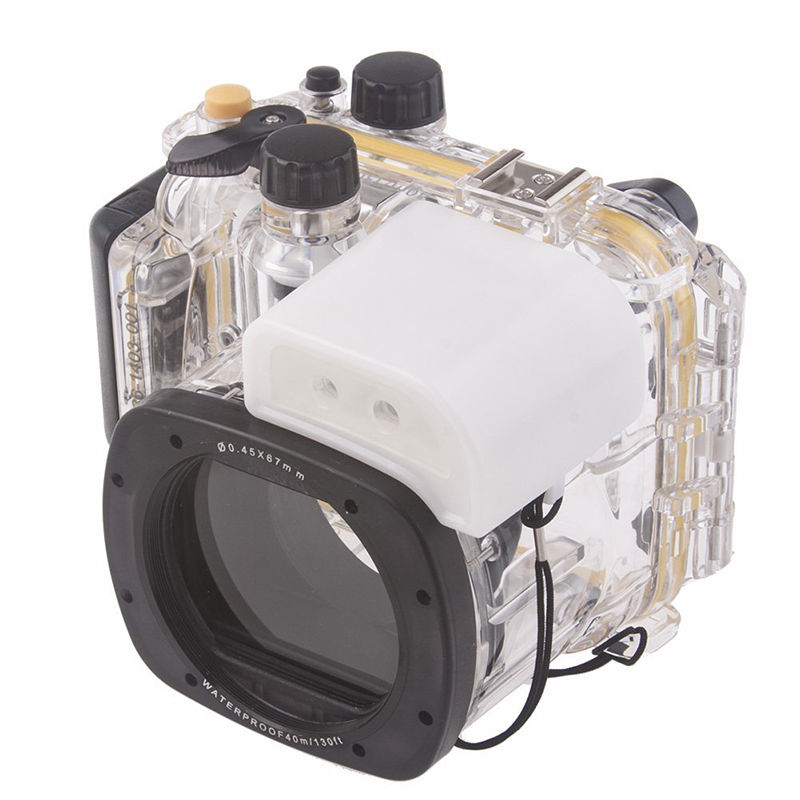 Meikon Underwater Diving Camera Waterproof Housing Case For Canon G15 as WP-DC48 in stock meikon underwater diving camera waterproof housing case for canon g15 as wp dc48