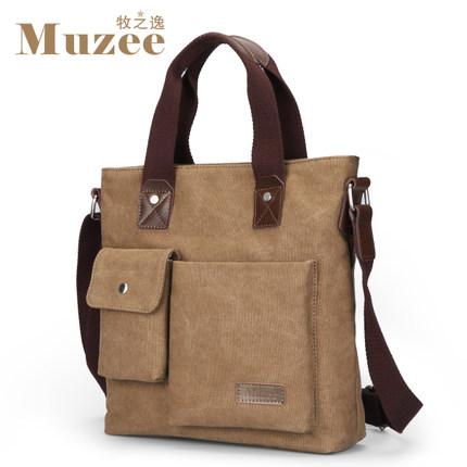 Prix pour Muzee mode Business casual hommes sacs à main de Toile Totes Multi-fonction sac ME_0466