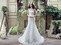 Real Photo Горячие Продажа Тюль Аппликации Line Свадебные Платья 2016 Vestido де Noiva принцесса Суд Поезд Кнопка Свадебное Платье 2016