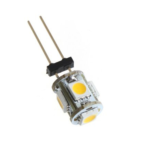 TOYL G4 5 LED SMD 5050 Pure White Car Marine Camper Cabinet RV Light Bulb Lamp DC 12V g4 3w 280lm 6500k ac 12v led cob car bulb cabinet dome light pure white