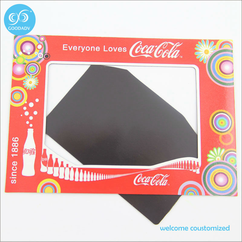 advertising gift custom magnetic photo picture frame fridge magnet photo frames free shipping