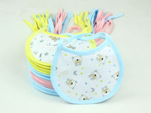 Envío gratis Kids Saliva baberos 10 pc/lot bebé toallas Saliva montaje impermeable baberos infantiles de tres colores