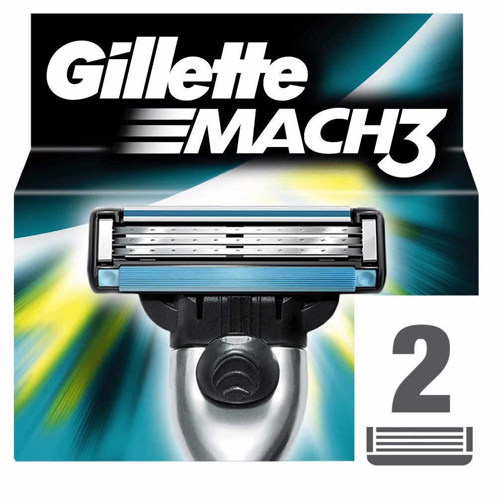 Replaceable Razor Blades for Men Gillette Mach 3 Blade shaving 2 pcs Cassettes Shaving  mak3 shaving cartridge mach3 gillette shaving razor blades for men blades 2