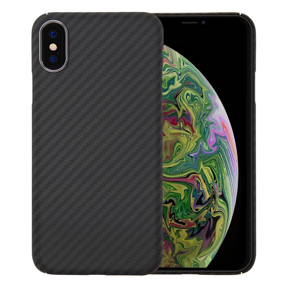 0,7mm Ultra Dünne Luxus Carbon Faser Muster Für iPhone XR XS XS MAX Fall Abdeckung Volle Schutz Aramid Faser fall Für iPhone X