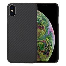 0.7mm Ultra Thin יוקרה סיבי פחמן דפוס עבור iPhone XR XS XS מקסימום מקרה כיסוי מלא מגן ארמיד סיבים מקרה עבור iPhone X