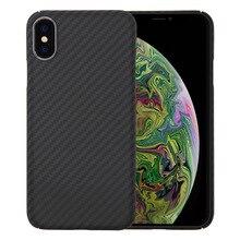 0.7mm ultra fino padrão de fibra carbono luxo para o iphone xr xs xs max caso capa de fibra aramida proteção completa caso para iphone x