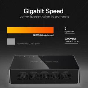 Image 5 - Mini 5 Port Switch Gigabit Ethernet 5 Port 10/100/1000Mbps Desktop Switch di Rete Lan Hub Piccolo e Smart Auto MDI/MDIX