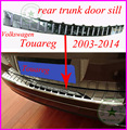 rear bumper sill rear bumper Protector plate for VW Touareg 2004 2005 2006 2007 2008 2009 2010 2011 2012 2013 2014,ABS material,