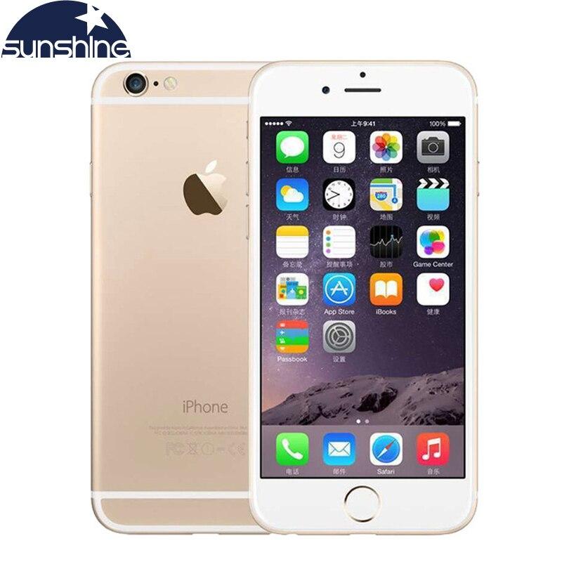 Desbloqueado APPLE iPhone 6 4G LTE celulares 1 GB RAM 16/64/128 GB IOS 4.7 '8.0MP Dual Core WiFi IPS GPS cámara del teléfono usado
