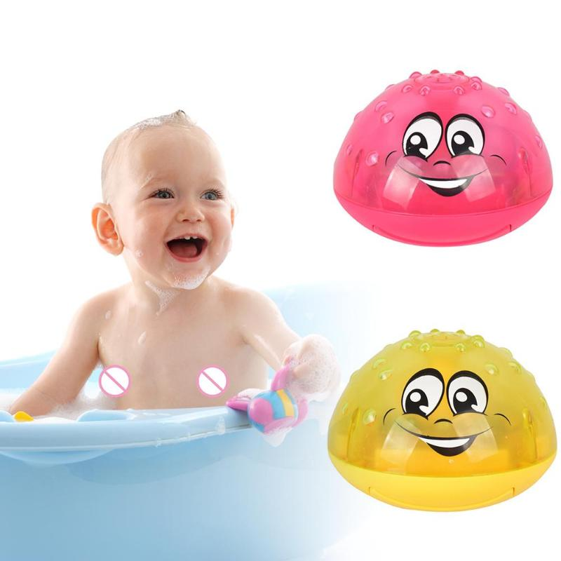 Bath Toys Spray Water Light Rotate With Shower Pool Kids Toys Electric Induction Sprinkler Luminous Water Ball Shower Toys