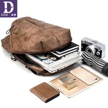 DIDE Vintage Male Backpacks Mochila laptop backpack 15.6 men waterproof usb charging Man\'s 14 inch travel Casual Bagpack for Men