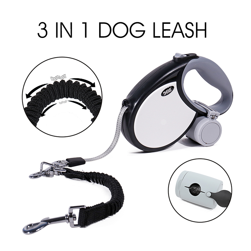 Retractable Dog leash 5M Automatic Leash With Reflective Strip 3 in 1 Pet Endurable Adjustable  Running