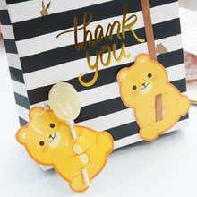 new 50pcs lollipop cover Yellow bear design children birthday wedding candy decorate holiday Christmas gift packaging