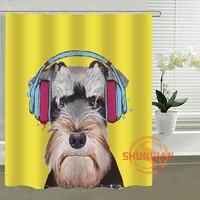 Perro de la historieta Personalizada Cortina de Ducha cortina de Baño Impermeable cortina de poliéster para la familia