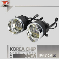 LYC Fog Lamp Led Daylight Car Hid Kit Auto Parts For Nissan Teana Suv Led 30w Headlight Synchronous steering signal Korea Chip