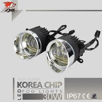 Lyc туман светодиодные лампы дневного света автомобиля HID комплект Авто Запчасти для Nissan Teana внедорожник LED 30 Вт фар синхронный руля сигнал Ко