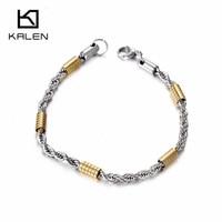 Kalen Mesh Bracelets For Women Stainless Steel Silver Color Mesh Link Chain Bracelets Bangles Cheap Fashion