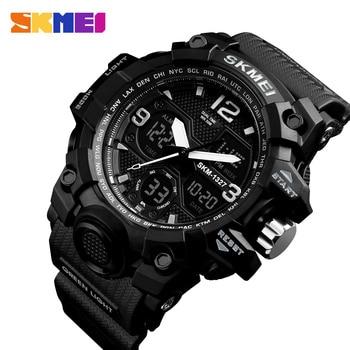 SKMEI Fashion Casual Sport Uhr Männer Digital Chrono 5Bar Wasserdichte Uhren Dual Display Armbanduhren Relogio Masculino 1327