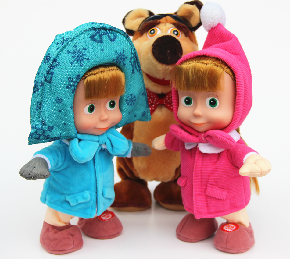 aliexpress com buy masha and bear figure toys russian plush toys