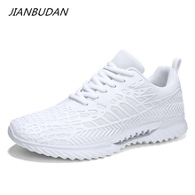 JIANBUDAN Breathable fashion womens summer sneakers Couple running shoes Mesh comfortable outdoor Lace-Up walking 36-45