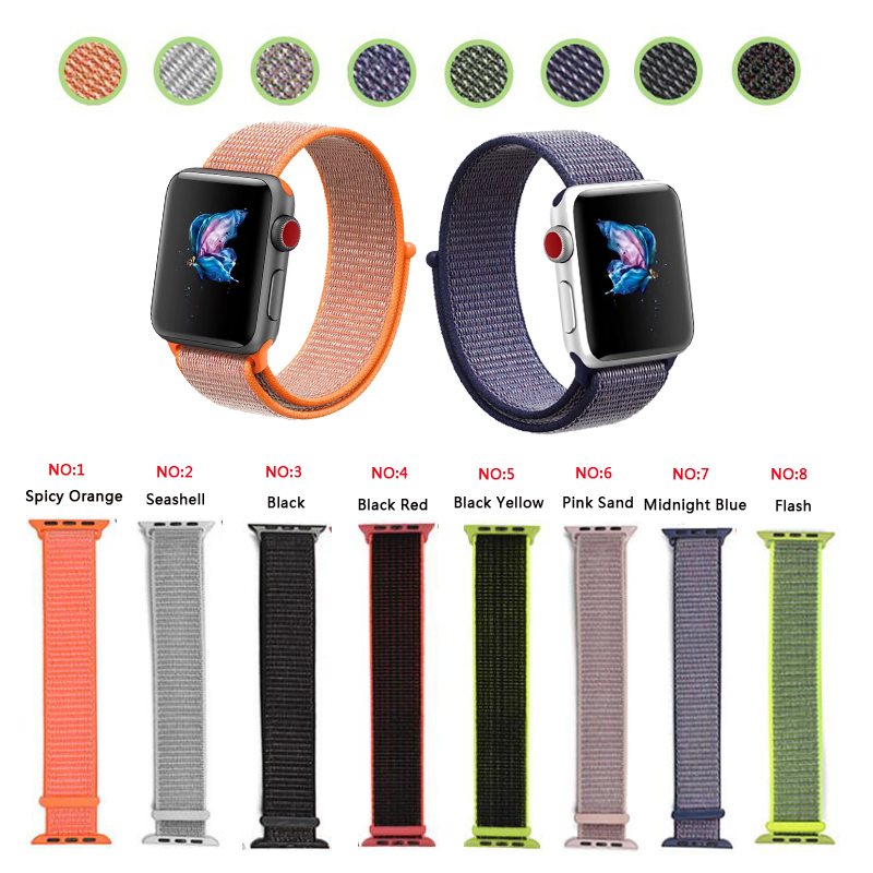 Joyozy 2017Flash Sport Loop For Apple Watch Band Nylon band apple uhr serise 3 2 1 iwatch band 42mm 38mm Soft Breathable Woven