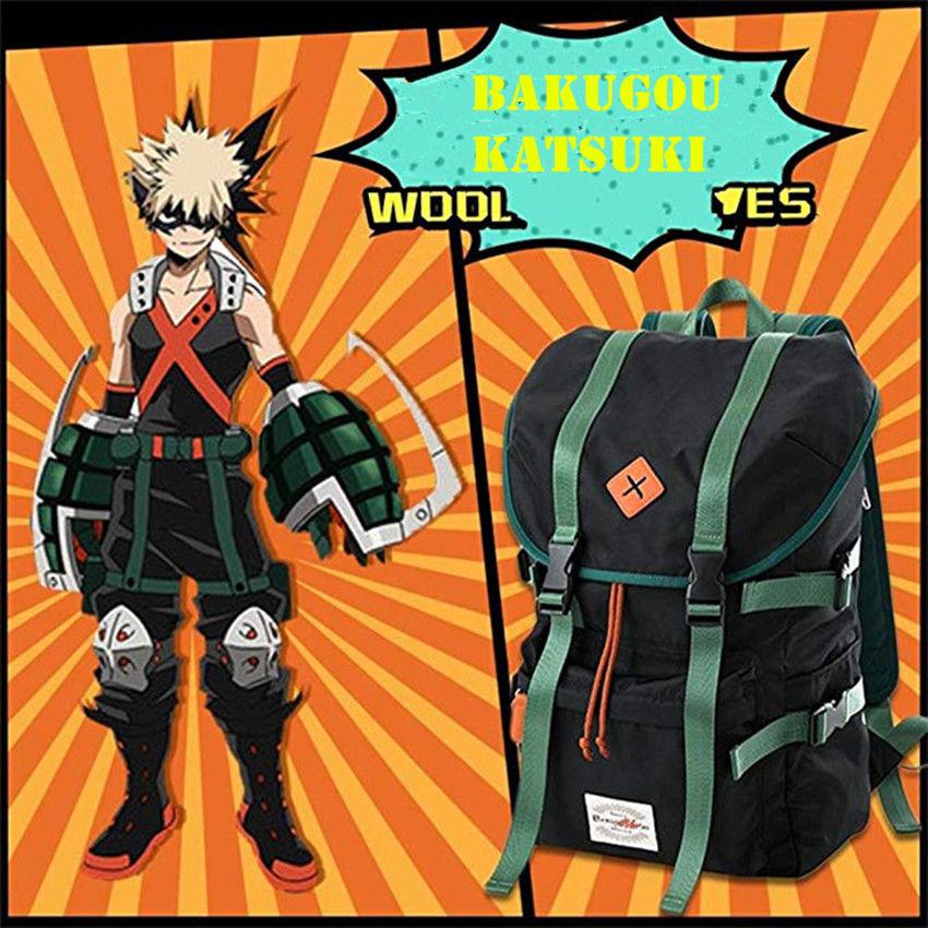 My Boku no Hero Academia Bakugou Katsuki Midoriya Izuku Todoroki Shouto Backpack Cool School Bag Gifts