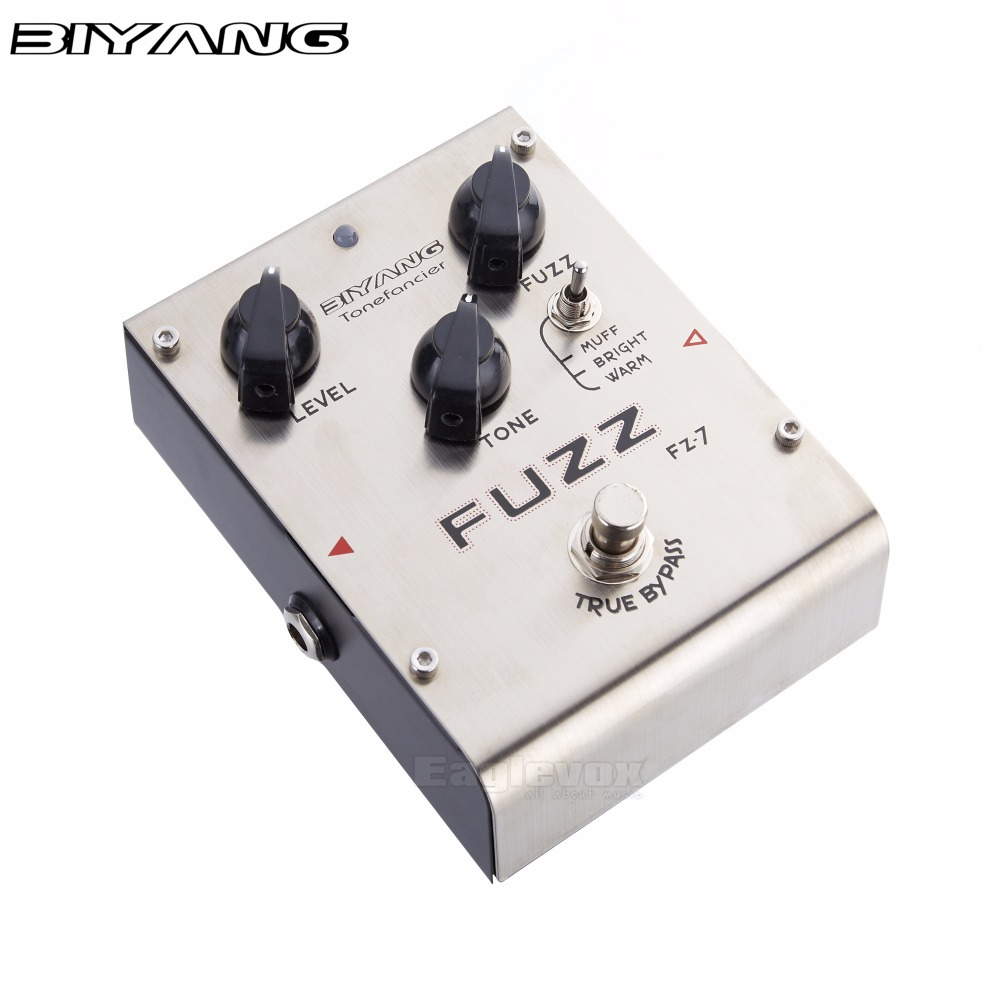 Biyang Fuzz Guitar Effect Pedal Combination Vintage and Modern Distortion Sound Effects Stompbox for Electric Guitar FZ-7