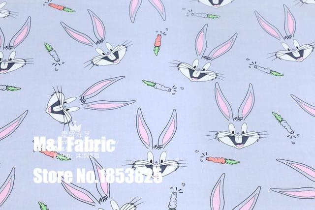 100*160 cm Cartoon schöne Bugs Bunny kaninchen Baumwolle Stoff Zum ...