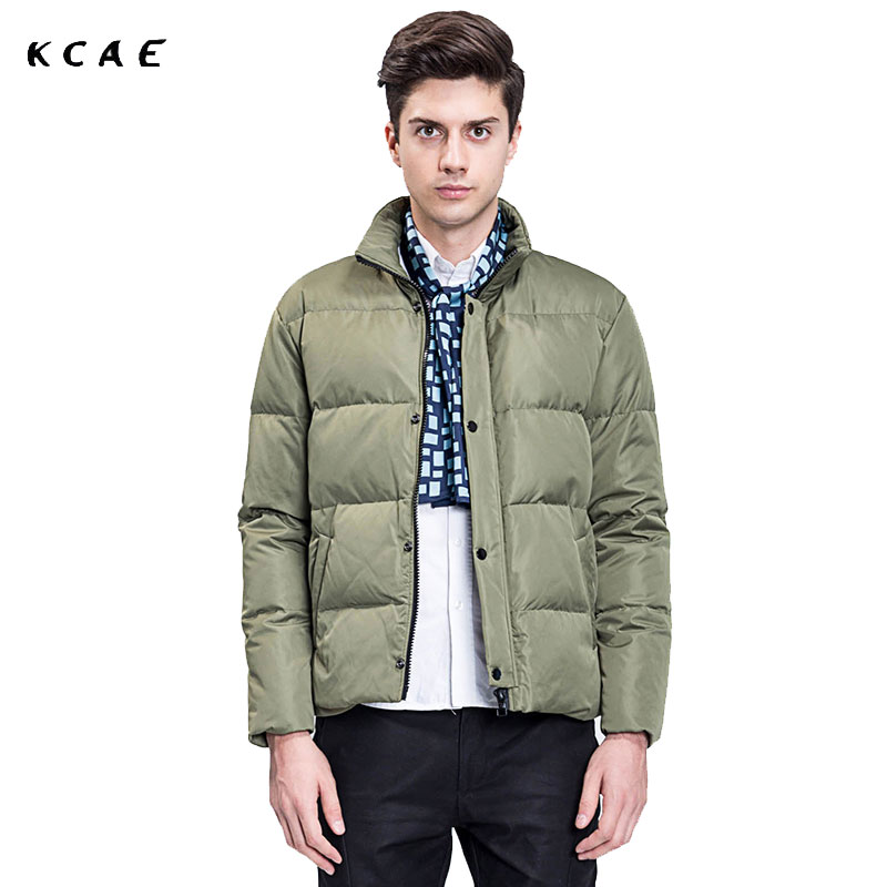 2017 New Men's Winter Parkas Stand Collar Casual Warm Coats Mens Outerwear Light Green Male Brand Jackets seven7 men parka warm winter new stand collar cotton snow outerwear mens jackets casual coats 2017 new brand clothing 111k20190