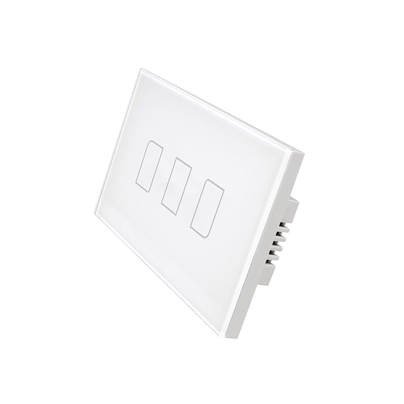 BroadLink TC2 US/AU Standard 3 Gang 1 Way Wifi Controlled Touch Light Switch with Free APP for iOS and Android Smart Phone sonoff t1 us smart touch wall switch 1 2 3 gang wifi 315 rf app remote smart home works with amazon free ios and app ewelink