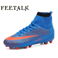 Men High Ankle Football Boots Professional Men S Turf Soccer Cleats Teenagers Athletic Sneakers Soccer Trainning