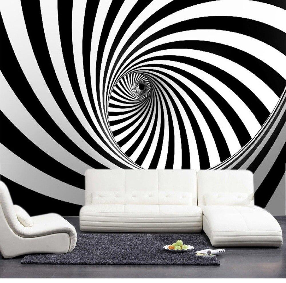 Modern wall murals modern wall coverings -  Wholesale Modern 3d Wall Photo Murals For Livinging Room Wallpaper 3d Wall Murals Zibra Lines Backdrop