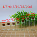 small glass bottles with wood cork, Mini clear empty glass penicillin bottle containers decorative craft corked stopper vials