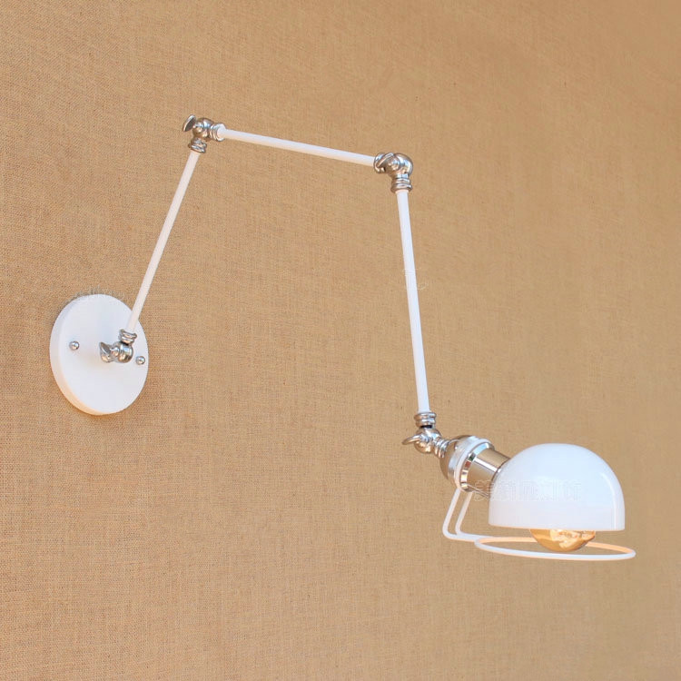 IWHD Iron RH Loft LED Wall Light Adjustable Vintage Industrial Wall Lamp Retro Bedside Wall Sconce Fixtures For Home Lighting freeshipping mini bluetooth thermal printer 80mm receipt ticket printer pos printer machine for thermal printer android ios