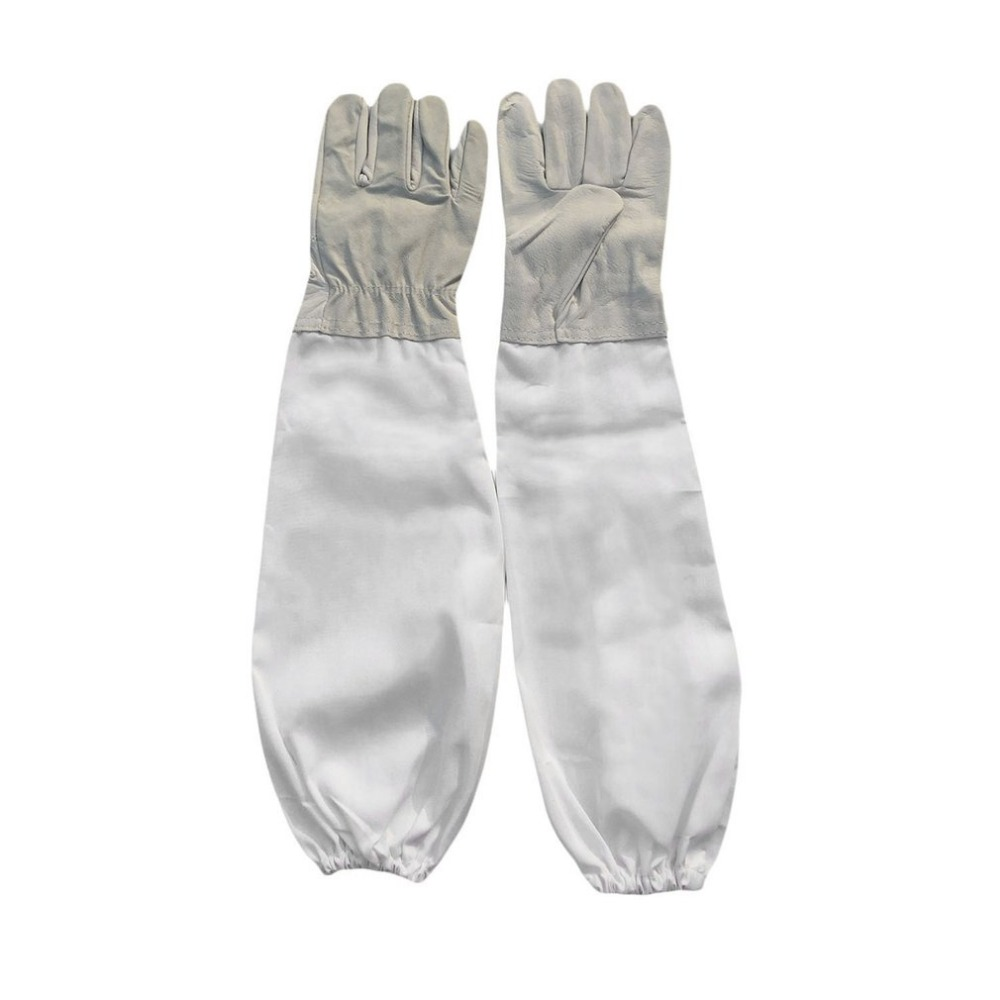Ventilated Elastic Cuffs Leather Extra Long Sleeve Garden Farm Forest Bee Gloves Sting Proof Beekeeping Beekeeper Tool