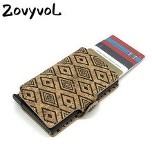 ZOVYVOL Plastic ID Card Holder Women and Men RFID Wallets 2019 New Single Aluminum Box Vintage ID Holders Business Card Cases uv ink printed barcode card and plastic member key card 3 part supply