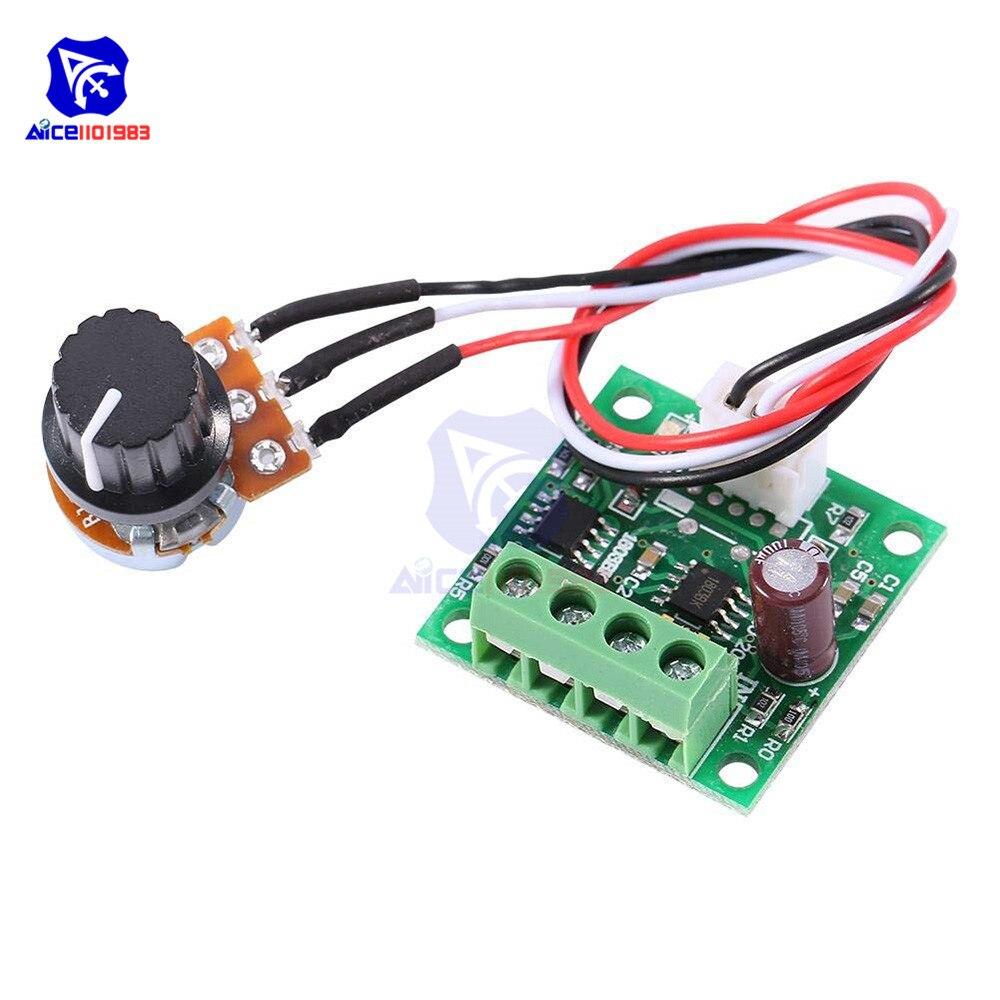 High Precision 1.8V 3V 5V 6V 9V 12V PWM DC Motor Speed Controller Fuse 2A Over Current Protection With Knob Potentiometer Switch