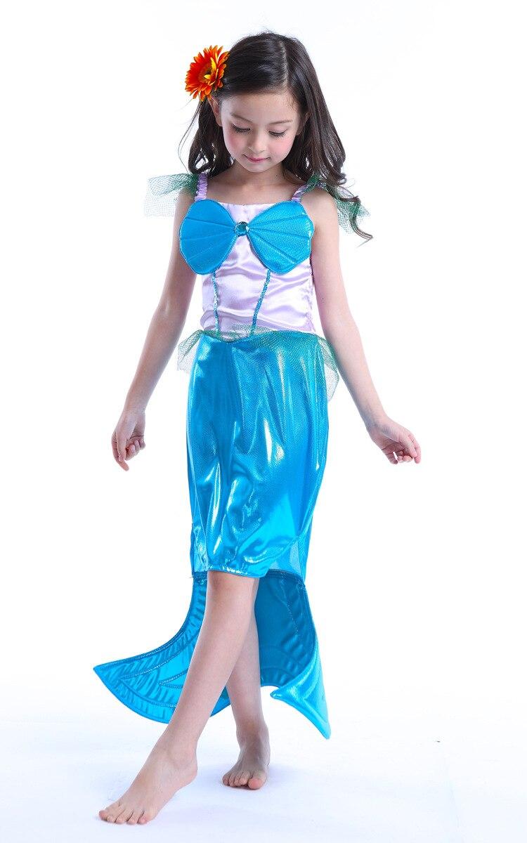 Christmas Little Mermaid Dress Girl Kids Princess Dress Cosplay ...