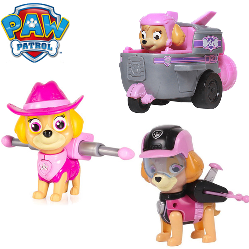 Paw Patrol Dog Toy Skye Full Set Deformable Everest Tracker Patrulla Canina PVC Action Anime Figure Model Toy For Children Gift
