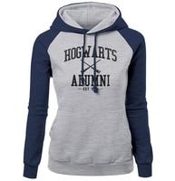 HOGWARTS ALUMNI Letter Print Women S Sweatshirt 2017 Autumn Winter Fleece Raglan Hoody Brand Clothing Fashion