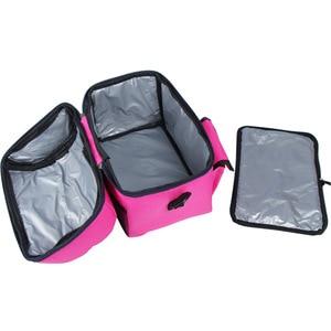 Image 3 - 캠핑 피크닉 가방 점심 가방 식사 바구니 휴대용 절연 패키지 더블 레이어 신선한 유지 가방 맥주 냉장고 휴대용 쿨러