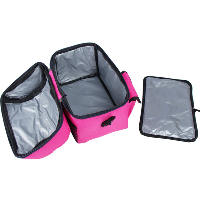 Image 3 - camping picnic bag Lunch bag meal basket portable insulation package double layer fresh keeping bag beer fridge portable coolers-in Picnic Bags from Sports & Entertainment
