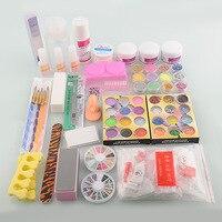 Nouveau Pro UV GEL Acrylique Nail Liquide Poudre Glitter Déco Nail Art Conseils strass Nail Art Outils polonais Ensemble Kit