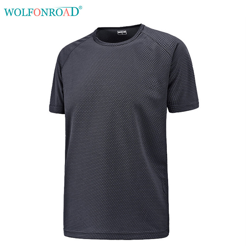 fd245c2f63358 WOLFONROAD Men s T shirts Quick Dry Camping Hiking T Shirt Plus Size Summer  Sport Tops Male Army Shirt L JPFL 001-in Hiking T-shirts from Sports ...