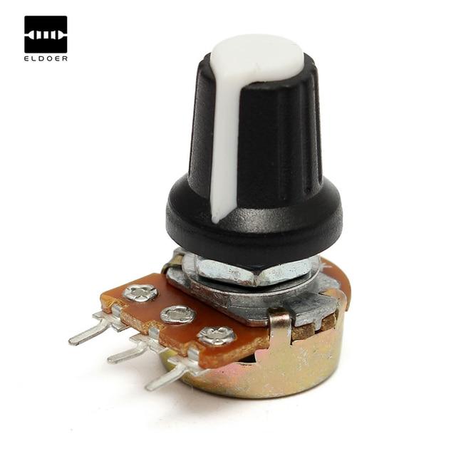 5 pièces 10 K OHM 3 Terminal Linéaire Taper Rotary Volume B Type Potentiomètre Pot nouveauté qualité supérieure