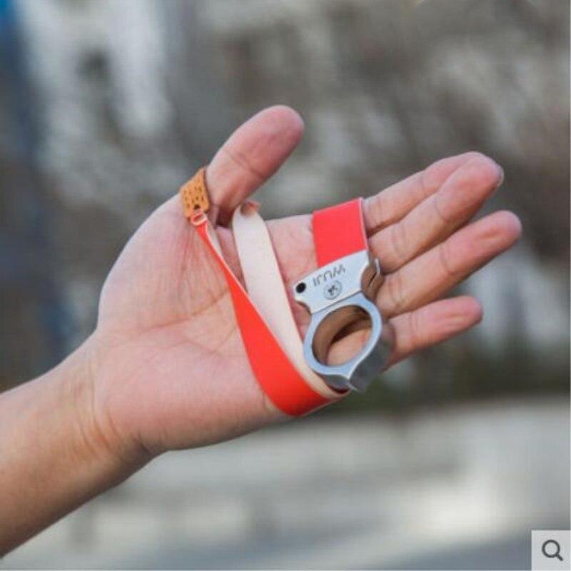 Leicht zu tragen Präzision Flache Mini Ring Slingshot im Schleuder Flache Gummiband Jagd Schleuder Erwachsene Spielzeug