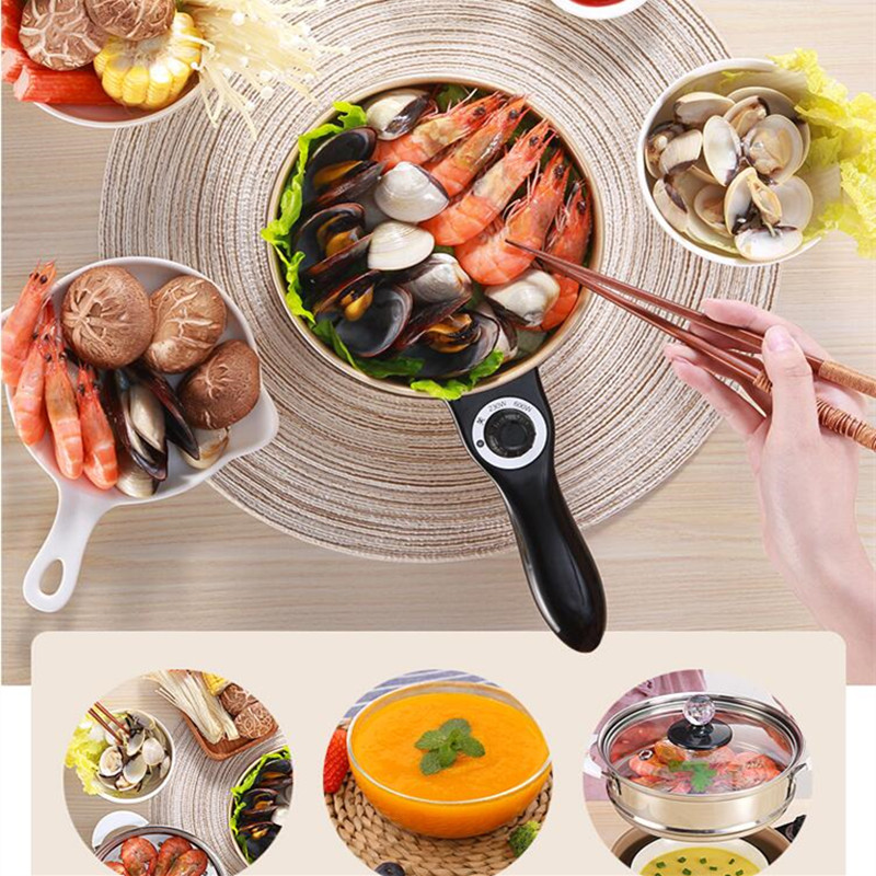 220V Multifunctional Electric 1L Cooking Machine For Frying Stewing Boiling Hot Pot Non-stick Multi Cooker EU/AU/UK/US Plug220V Multifunctional Electric 1L Cooking Machine For Frying Stewing Boiling Hot Pot Non-stick Multi Cooker EU/AU/UK/US Plug
