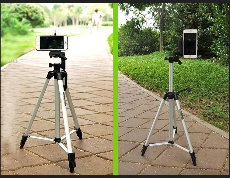 Macchina fotografica portatile DV Treppiede Weifeng WT-330A + Clip di Telefono Kit per Video Camcorder Binocoli