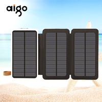 15000mAh 21W Solar Fast Power Bank Waterproof Charge Pal Quick Portable Power Source With Camping Light