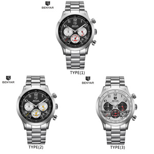Image 5 - Benyar Mannen Horloges Top Merk Luxe Chronograph Sport Mannelijke Klok Rvs Militaire Leger Horloge Relogio Masculino 5107